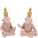 Poly monkey Atu, 2 motifs, W10cm, H18cm, pink-gold